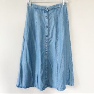 & other stories | Chambray Button Front Skirt 6